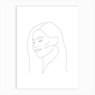 Line Face Art Print