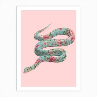 Floral Snake Art Print