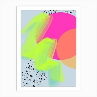 Neon Eclipse Art Print