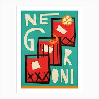 Negroni Art Print