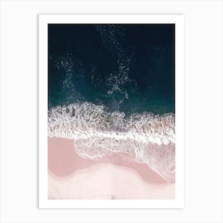 Sands Of Pearly Pink Art Print