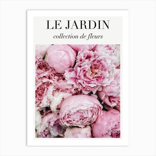 Le Jardin Pink Peonies Art Print
