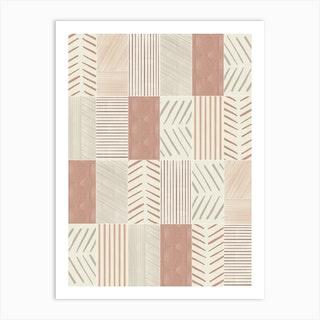Rustic Tiles 02 Art Print