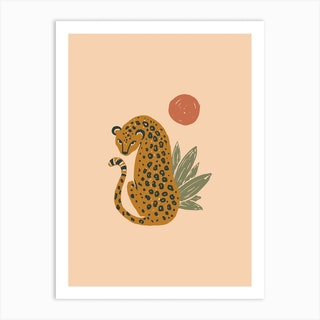 Sunny Leopard Art Print