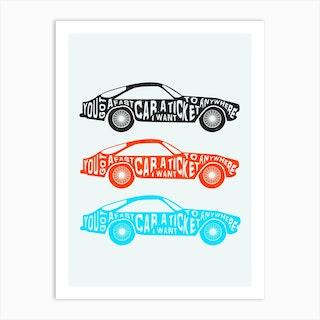 Fast Car Art Print