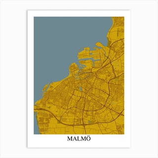 Malmo Yellow Blue Art Print