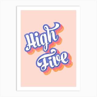 High Five Art Print