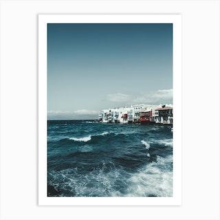 Mykonos Sea Art Print