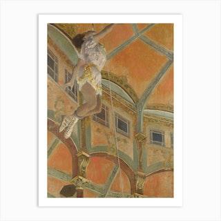 Miss La La At The Cirque Fern, Hilaire-Germain-Edgar Degas Art Print
