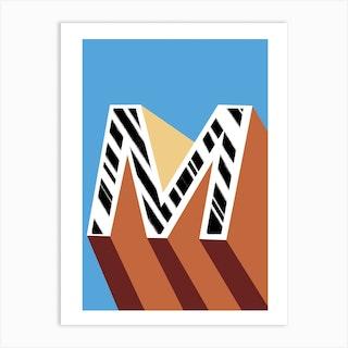 M Geometric Font Art Print