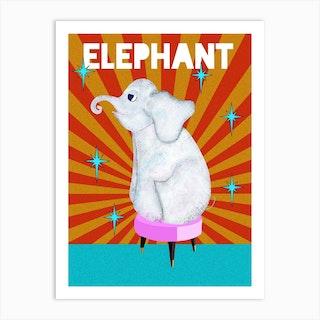 Circus Elephant Art Print