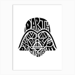 Dafth Vader Art Print