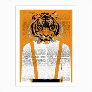Tiger Braces Art Print