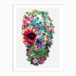 Summer Skull Art Print