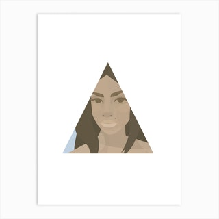 Nicole In A Triangle Art Print