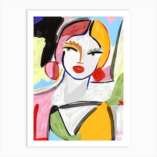 Palette Girl Art Print