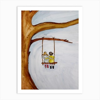 The Woodyard Swing Art Print