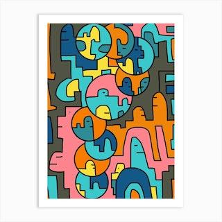 Bubble City Art Print