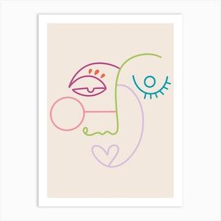 Line X Line Art Print