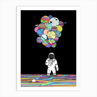 Space Delusions Art Print