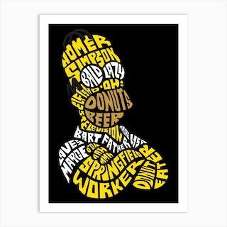 Homer Simpson Art Print