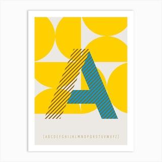 A Typeface Alphabet Art Print