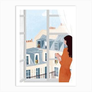 Window Gazing Art Print