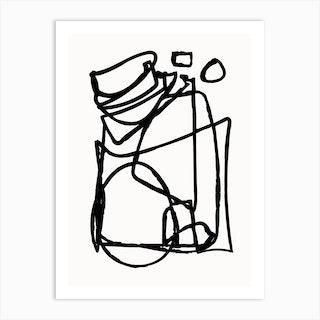 Abstract Line Art Print