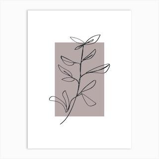 Flowers Line Art One Art Print