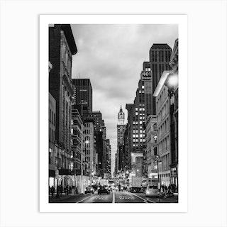 Broadway B&W Art Print