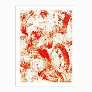Dry Orange Abstract Art Print