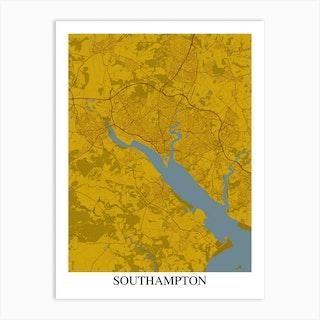 Southampton Yellow Blue Art Print