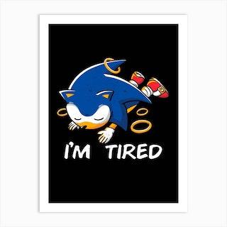 Sonic Tired Art Print