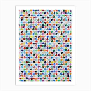 Candied Polka Daubs Art Print