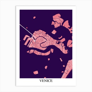 Venice Pink Purple Art Print