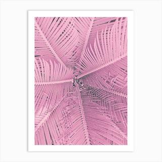 Palm Pastel Pink Art Print