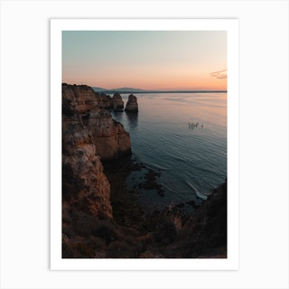 Sunrise And Cliffs Art Print