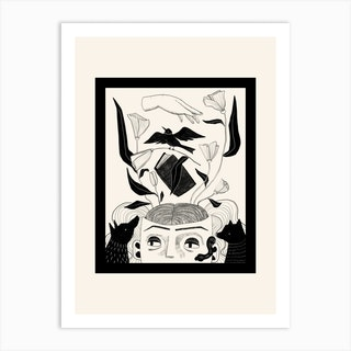Witchs Familiars Art Print