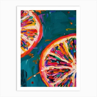 Pink Grapefruit Art Print