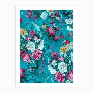 Blue Garden 2 Art Print