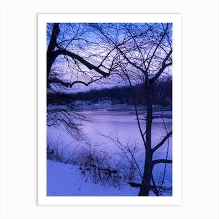 Purple Central Park Winter Art Print