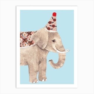 Chubby Elephant Art Print