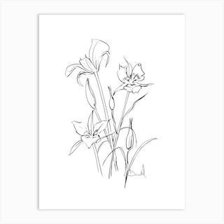 Floral Note Art Print