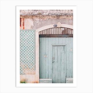 Mint Door Art Print