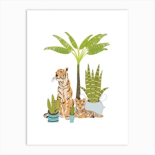 My Urban Jungle Cat 3 Art Print