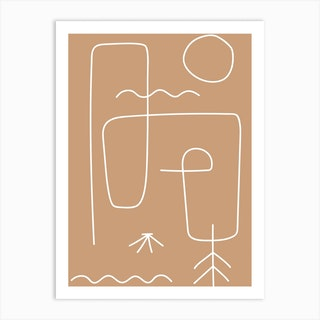 Warm Abstract I Art Print