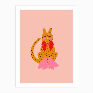 Spotty Cat Art Print