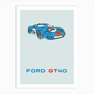 Car Ford Gt40 Art Print