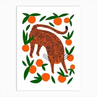 Tangerine Tiger Art Print