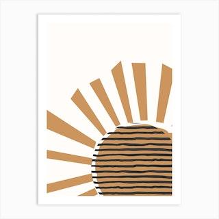 Shining Sun Art Print